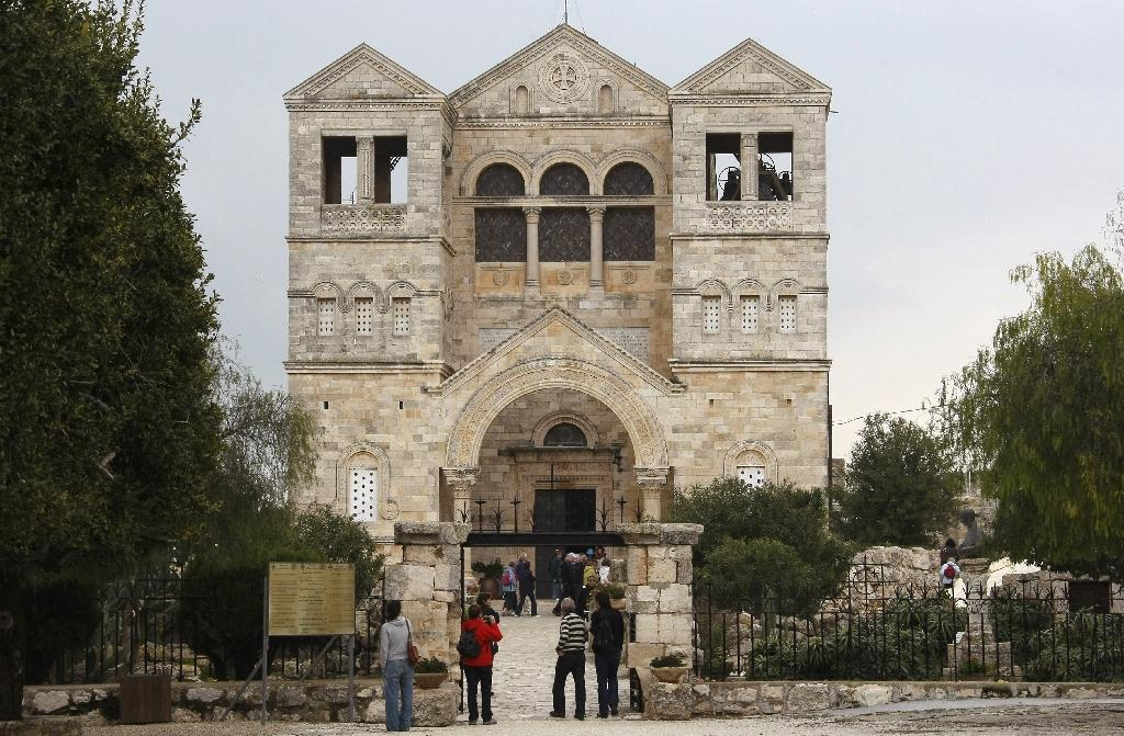 The Church of the Transfiguration on Mount Tabor in northern Israel, is where Christians believe Jesus spoke with Moses and Elijah (AFP Photo/Jack Guez)