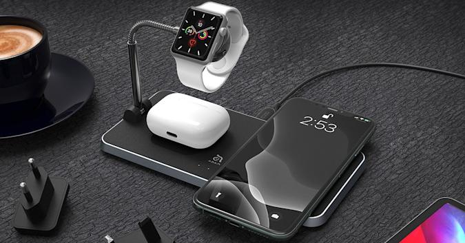 A press image of the OMNIA Q3 wireless charging station.