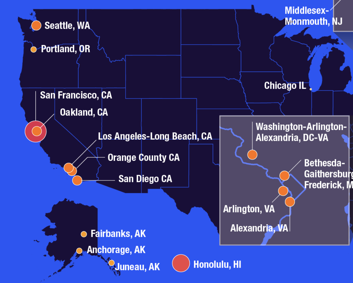 The 25 most expensive U.S. cities to live in