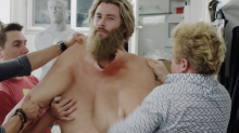 See Chris Hemsworth jiggle around in his Thor fat-suit in footage from 'Avengers: Endgame' set (exclusive)