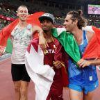 Qatar's Mutaz Essa Barshim, Italy's Gianmarco Tamberi decide to share gold in men's high jump