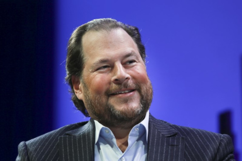 Marc Benioff, Founder, Chairman, and CEO of Salesforce, participates in a panel discussion at the 2015 Fortune Global Forum in San Francisco