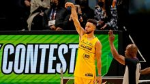 Curry Earns Narrow Win Over Conley in 3-Point Contest