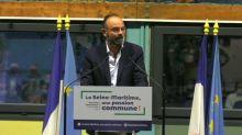 """Sénatoriales: Édouard Philippe appelle au rassemblement en vue de la """"tempête"""""""