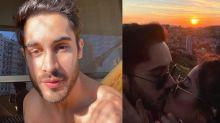"""Diogo Melim assume namoro com Nanda Caroll e internautas sentem """"inveja"""""""