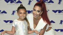 Farrah Abraham and 8-year-old daughter Sophia hit the VMA red carpet in matching makeup