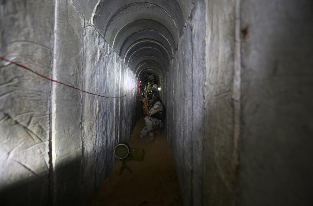 Tunnels were a key weapon for Hamas during the last conflict in 2014, with a number of surprise attacks inside Israeli territory (AFP Photo/Mahmud Hams)