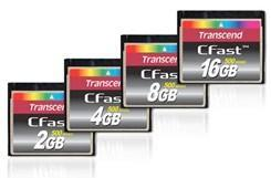 Transcend issues four new CFast 500 memory cards, promises 108MB/sec transfer rates