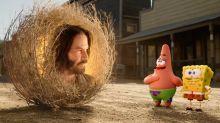Keanu Reeves aparece en el tráiler de 'Bob Esponja: Un héroe al rescate' y así reaccionaron los fans