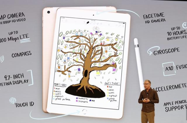 The new entry-level iPad works with the Apple Pencil
