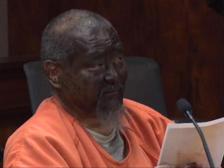 """A man who was recently convicted in a violent road rage incident turned up to court with a blacked up face for his sentencing hearing before delivering a bizarre racially-charged rant.Mark Char, who is not black, claimed he was wearing blackface because he was being """"treated like a black man"""" by the court in Honolulu, Hawaii. He was found guilty of attempted murder and assault in March over a triple stabbing in a road rage confrontation.One victim was knifed five times and taken to hospital in a critical condition after the attack, which Char claimed was in self-defence.At his sentencing hearing, Char hit out at his lawyer, who he said was """"incompetent"""". He said: """"Now this kangaroo court is trying to give me a life sentence for me trying to protect and defend myself against the attack from three guys ― in essence, treating me like a black man.""""And today, the reason why I'm like this is because I prepared myself to play my part in your kangaroo court, treating me like a black man, so today I'm going to be a black man.""""Char is thought to have used a black-coloured permanent marker to darken his face, according to local media.Despite his unusual behaviour, state documents showed the court was satisfied that he had understood the proceedings of the trial and was fit to be sentenced.His appearance drew strong criticism from Judge Todd Eddins, who later sentenced him to life in prison with the possibility of parole.""""This continues a pattern of disruptive behaviour designed to undermine the administration of justice,"""" he said.He added: """"What you need to do is look in the mirror. And if you look in the mirror, Mr Char, you're not going to see a black person, you're going to see a menace to society."""""""