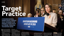 NRA under fire for 'Target Practice' headline next to Nancy Pelosi and Gabby Giffords image: 'This is how terrorists behave'