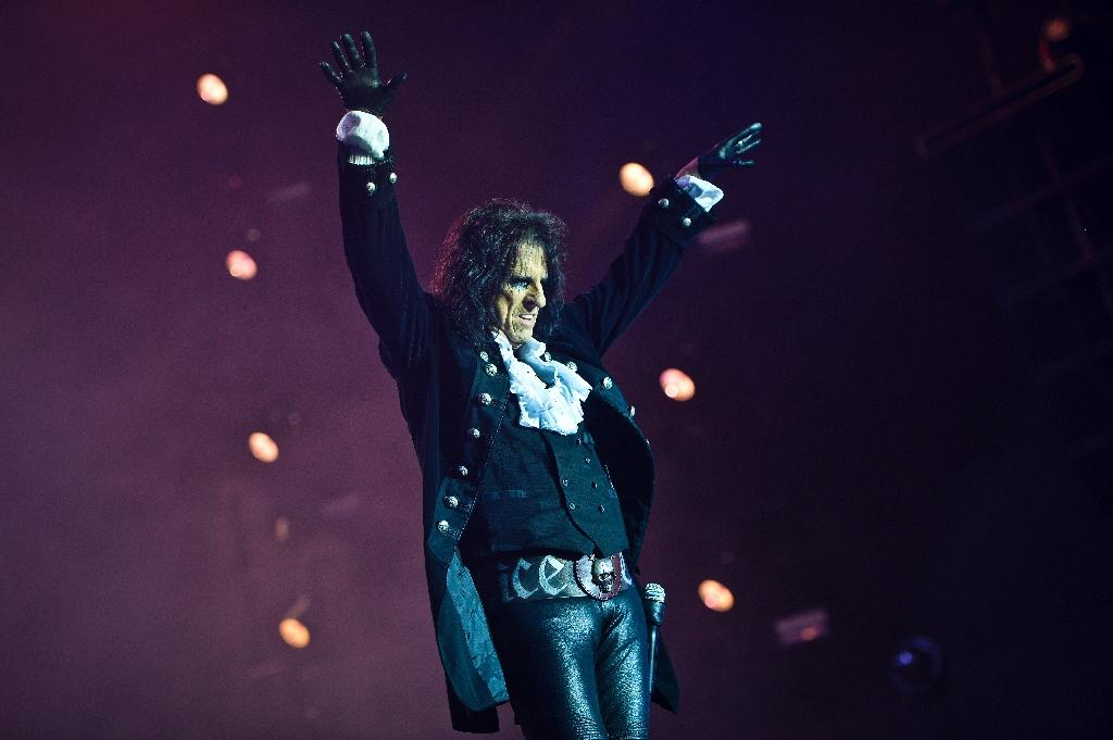 """Alice Cooper, pictured on May 27, 2016, announced that he is running for US president with the slogan, """"A Troubled Man for Troubled Times"""""""