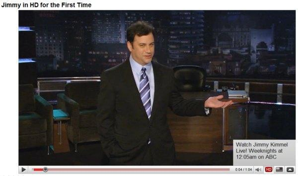 Jimmy Kimmel debuted last night in HD...let's see if anyone noticed