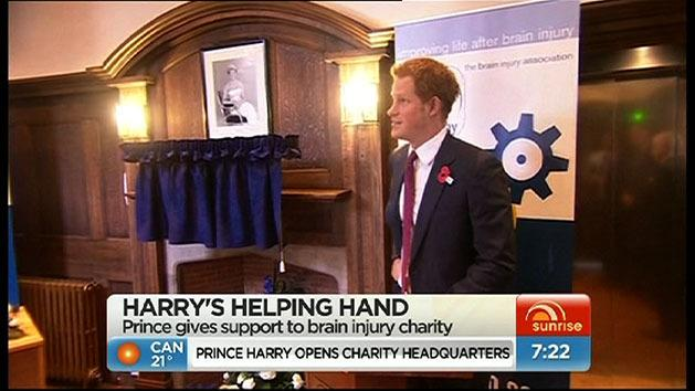 Prince Harry supports brain charity