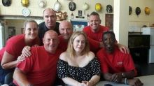Adele visits firefighters for 'tea and cuddles' following Grenfell tower tragedy