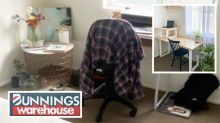 Bunnings DIY transforms 'sad' home office for just $120