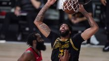 Lakers survive after nearly blowing 21-point lead, beat Rockets in Game 2 to even series