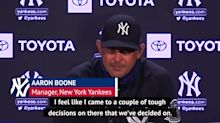 Boone making 'tough decisions' as he finalises his Yankees roster