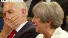 Everyone is desperate to know what Theresa May said to make Jeremy Corbyn laugh