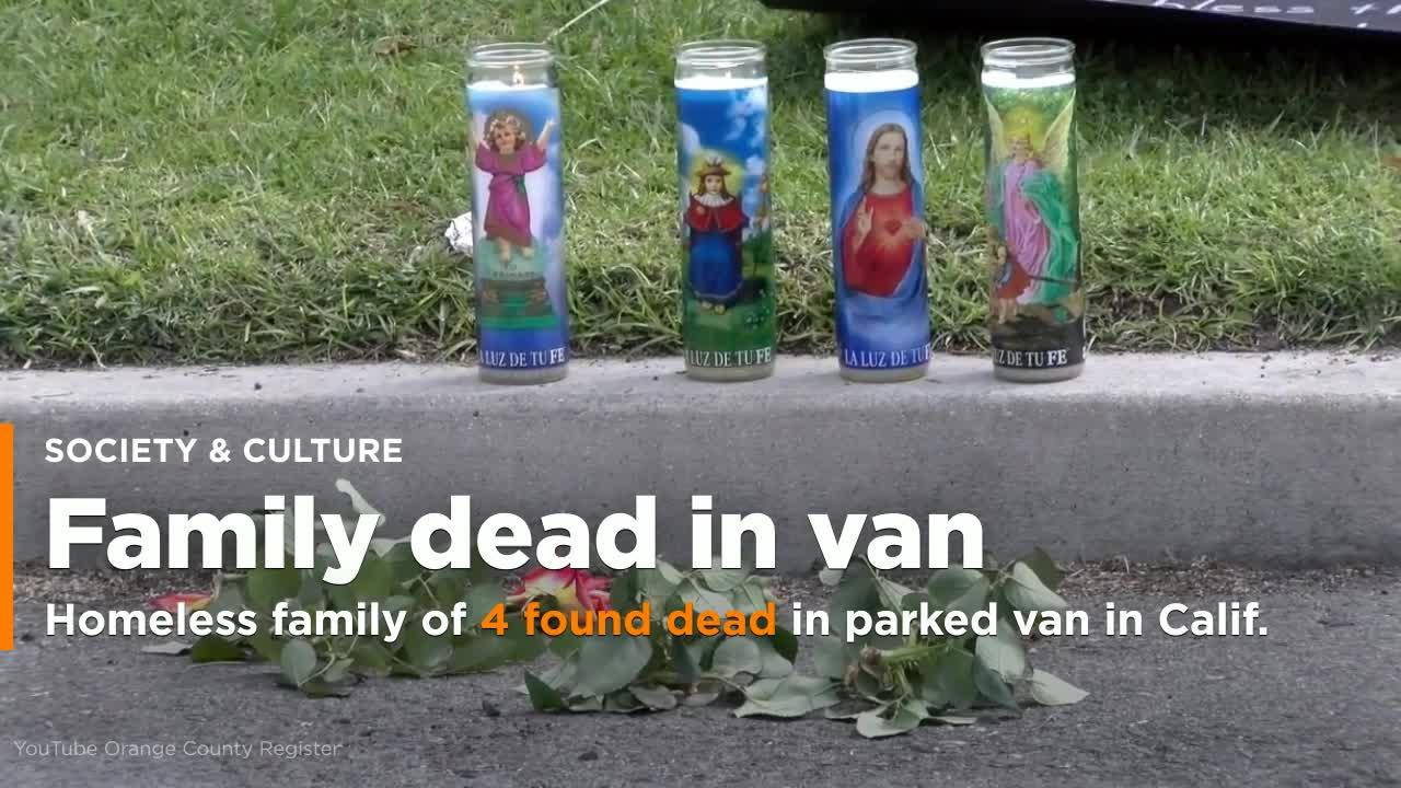 Homeless family of 4 found dead in parked van