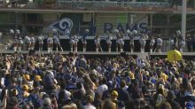 A lot of fans actually showed up to the Rams' Super Bowl send-off rally on Sunday