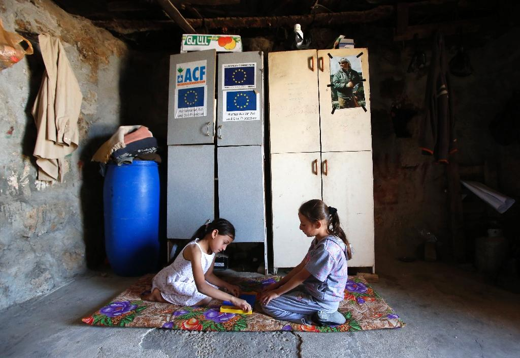The Palestinian village of Khirbet Zanuta has 167 residents living in it (AFP Photo/Hazem Bader)