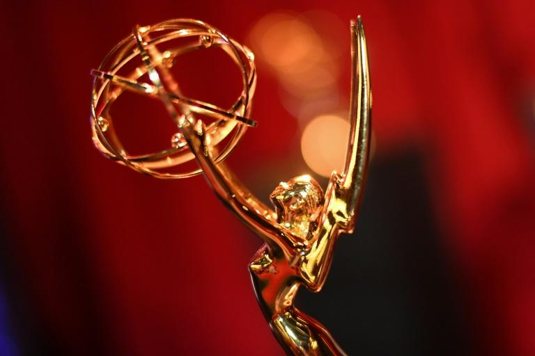 The Emmy Awards, the top honors in television, will be handed out in Los Angeles on September 20, 2020 (AFP Photo/VALERIE MACON)