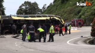 Genting bus wreckage pulled out from ravine