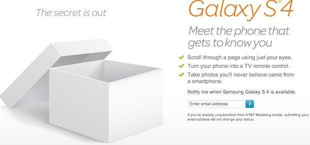 T-Mobile, AT&T publish Galaxy S 4 sign-up page, for those who want to be first in the know