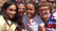 'You look just like me': Meghan's adorable moment with young Aussie girl