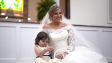 Three-year-old cancer survivor is flower girl at her bone marrow donor's wedding
