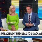 Trump says impeachment push lead to USMCA win, Pelosi tries to claim victory