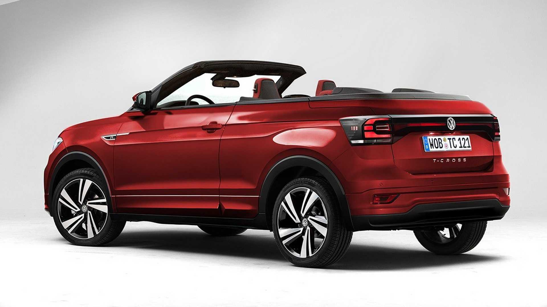 vw t cross convertible and pickup truck rendered. Black Bedroom Furniture Sets. Home Design Ideas