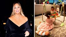 Relatable mum Chrissy Teigen buys Fisher-Price products for her baby, too