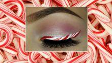 Jetzt gibt es Zuckerstangen-Eyeliner, damit Sie sich weihnachtlich schminken können