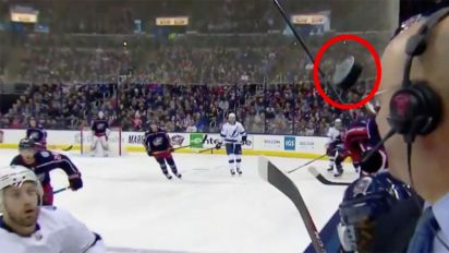 Commentator 'almost gets decapitated' mid-call