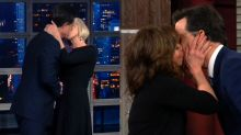 Stephen Colbert's Wife's Reaction to Recent Kissing Spree