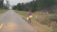 Father makes 10-year-old daughter walk 5 miles to school as punishment for bullying