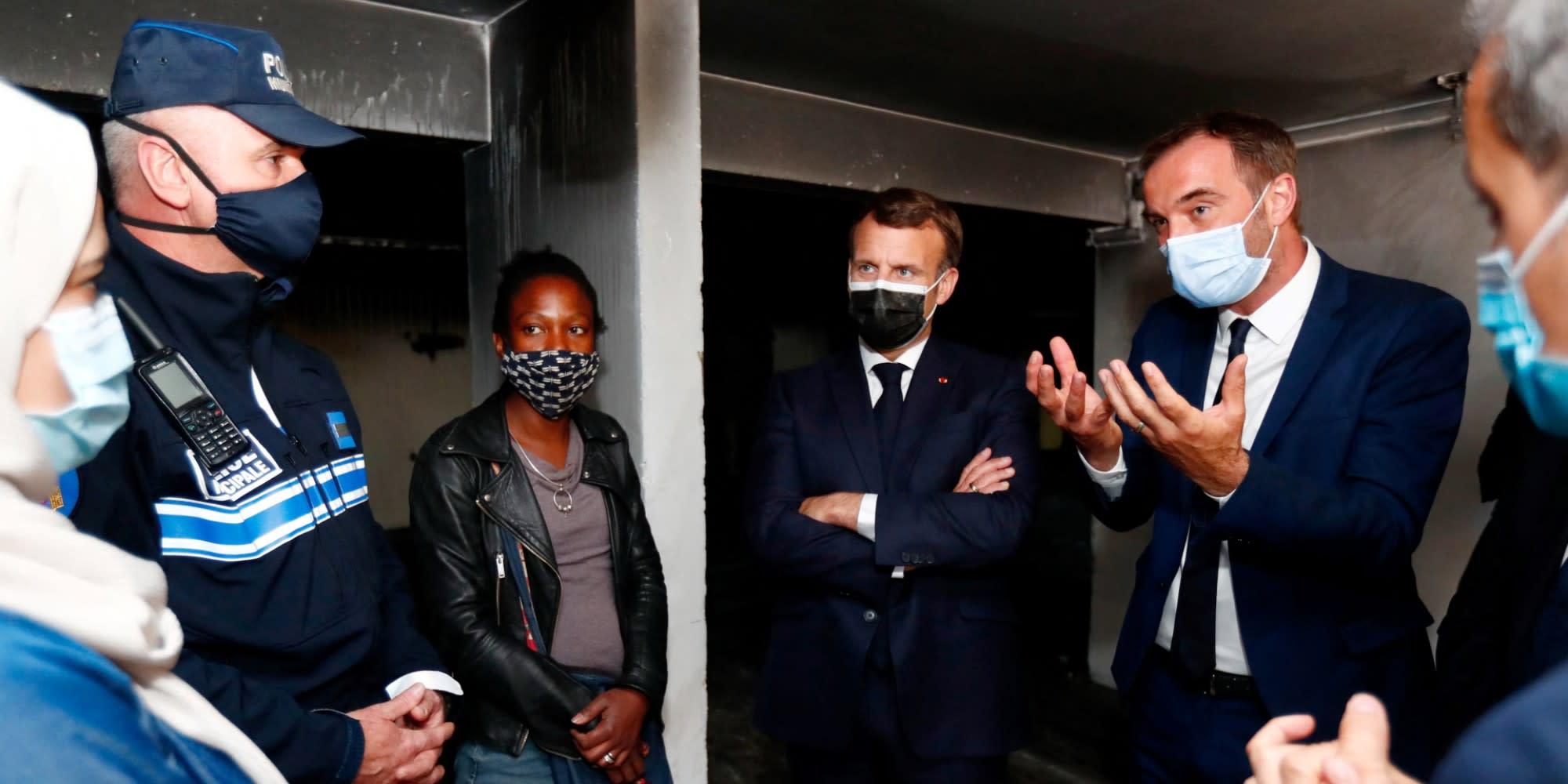 À Montpellier, Emmanuel Macron défend sa politique sécuritaire