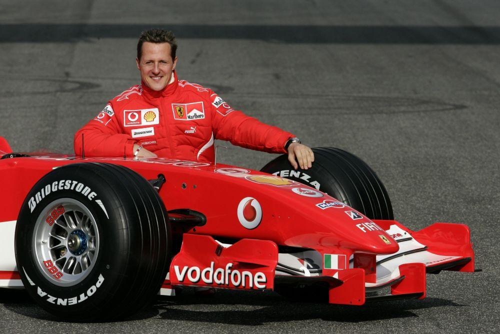 File photo of Michael Schumacher of Germany posing in Mugello