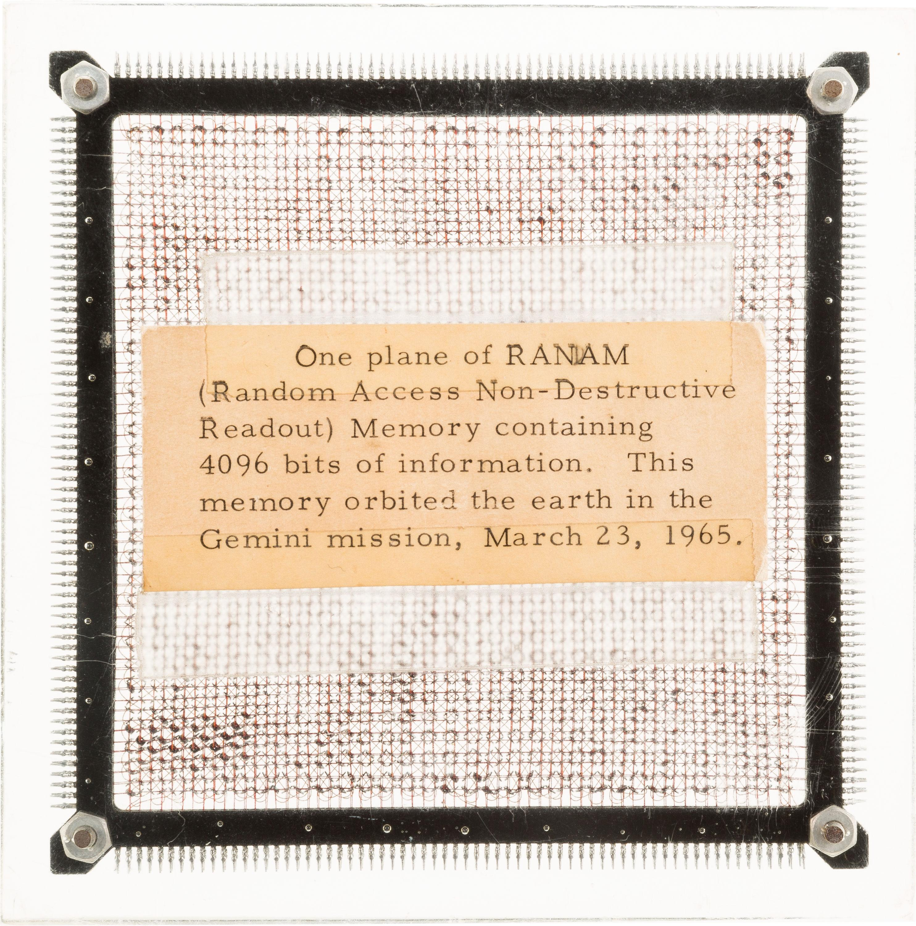 A piece of memory from Gemini 3 spacecraft is up for auction