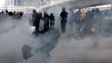 Tear gas fired at Hong Kong protesters