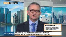 No Immediate Credit Impact From Short-Term Yuan Depreciation, Says Moody's Petch