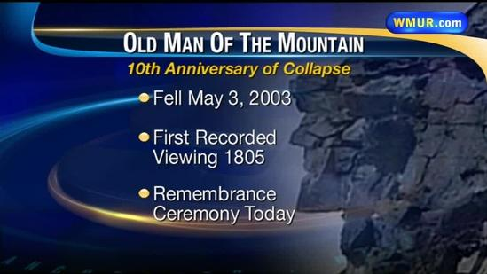 Old Man of the Mountain collapse anniversary