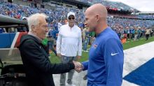 Former Buffalo and Montreal coach Marv Levy behind Buffalo Bills during playoff march