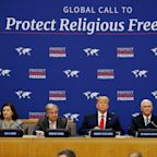 Trump pushes religious freedom initiative at UN but critics scoff at his record at home