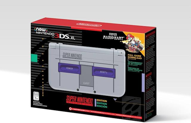 The US is getting a SNES-themed new 3DS XL too