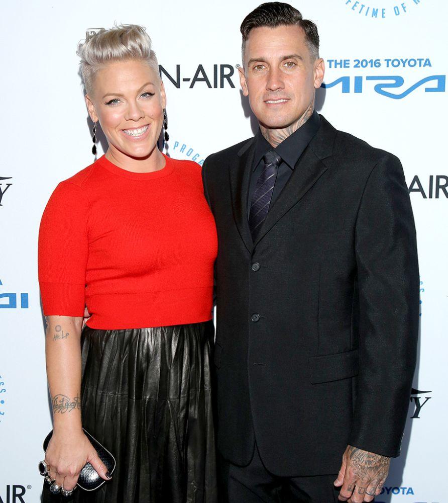 Pink and Carey Hart.