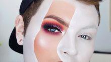 Nova moda de maquiagem do Instagram consiste em pintar apenas uma linha do rosto